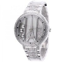Womens Luxury Diamond-studded Eiffel Tower Ladies Watches