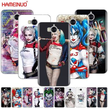 HAMEINUO Harley Quinn Suicide Squad Joker cell phone Cover Case for huawei honor 3C 4X 4C 5C 5X 6 7 Y3 Y6 Y5 2 II Y560 2017