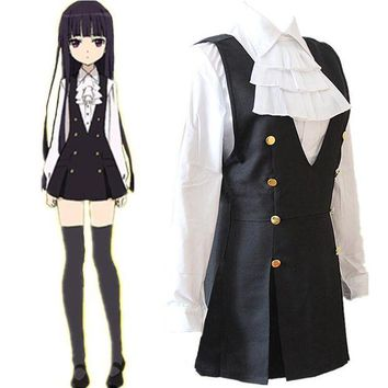 DCCKH6B Anime Bloomers Inu Boku Secret Service Shirakiin Riricho Cosplay Costumes Girls School Uniform Clothing Suit Halloween Dresses