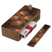 Colorful Fluorescent Abstract Modern Brown Fractal Cribbage Board