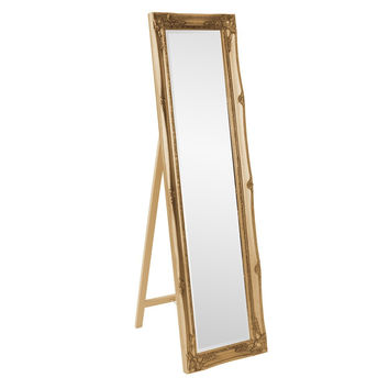 "Howard Elliott Queen Ann Gold Standing Mirror 18"" x 66"" x 2""d  24""d standing"