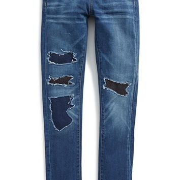Girl's BLANKNYC 'Rip Patch' Skinny Jeans,