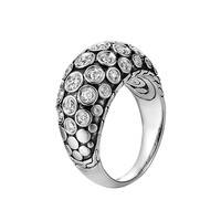 Dot Pave Diamond Dome Ring, Size 7 - John Hardy