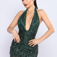 How To Party Sequin Dress - Hunter