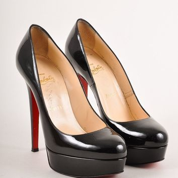 PEAP3D5 Christian Louboutin Black Patent Leather Bianca Pumps