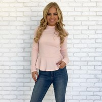 Pretty in Pink Peplum Top