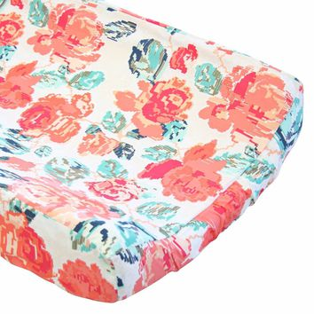 Flowered Engrams - Changing Pad Cover
