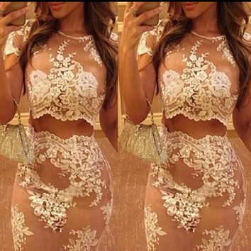 Sexy lace two-piece  XE0104DG