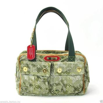 Louis Vuitton LV Monogram Murakami Monogramouflage Denim Jasmine Women Tote Bag