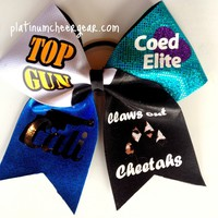 Quad Squad Bow - Platinum Cheer Gear