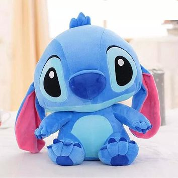 38CM One Piece Lovely Anime Stitch With Big Ear Plush Toys Super Soft PP Cotton Stuffed Brinquedos Birthday Presents 2 Colors