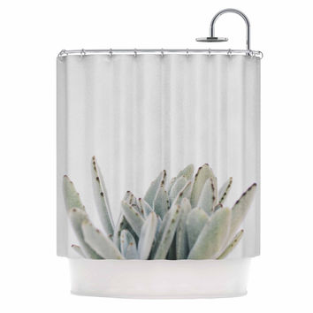 "Kristi Jackson ""Succulent 3"" Green Photography Shower Curtain"