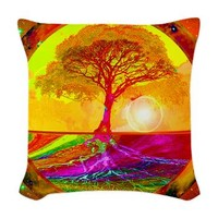 Healing Woven Throw Pillow> Tree of Life > Tree of Life Shop