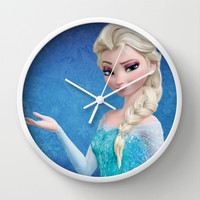 Queen Elsa - Frozen Wall Clock by Luke Hugeheels