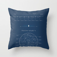 Doctor Who: Wibbly Wobbly Throw Pillow by Sof Andrade