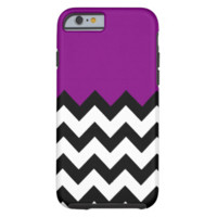 Violet Purple Pattern On Large Zigzag Chevron iPhone 6 Case