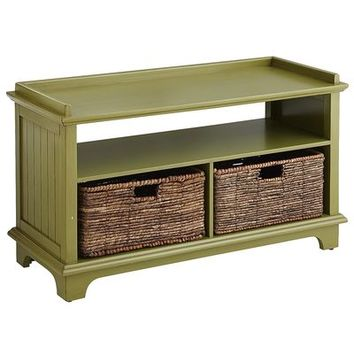 Holtom Storage Bench - Antique Green