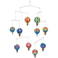 Tin Hot Air Balloon Mobile