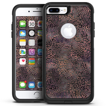 Black and Purple Watercolor Leopard Pattern - iPhone 7 or 7 Plus Commuter Case Skin Kit