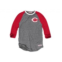 Hustle Play Henley Cincinnati Reds - Mitchell & Ness