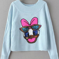 Blue Duck Sequins Crop Knitwear