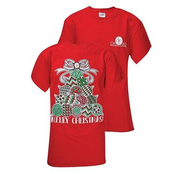 Southern Couture Preppy Christmas Classic Ornament Tree T-Shirt