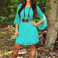 Wings Of A Dove Tunic Dress Mint