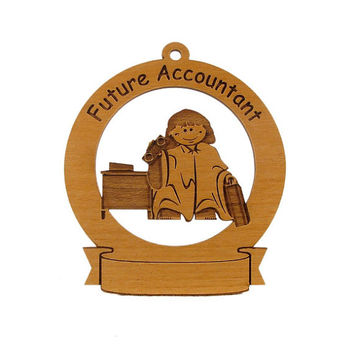 Future Accountant Ornament Personalized with Your Child's Name