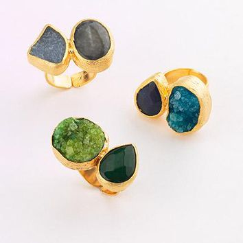 Gemstone Combination Cocktail Ring