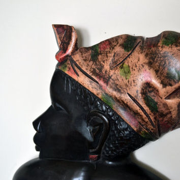 African Art, Handmade, Carved, Wood, African Mother, Family, Tribal Art, Afrocentric Art, African American Art, Strong Black Woman