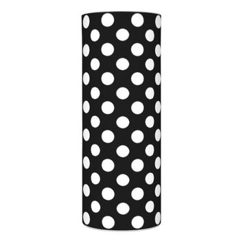 Black and White Polka Dot Pattern Flameless Candle