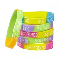 6-pack Bff Silicone Bracelets | Girls Bracelets Jewelry | Shop Justice