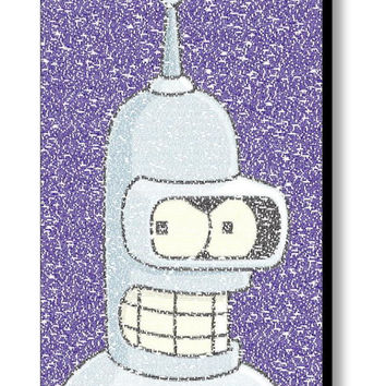Futurama Bender Quotes Mosaic INCREDIBLE Framed or unframed Limited Edition Art Print