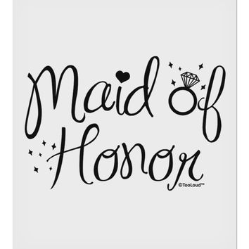 "Maid of Honor - Diamond Ring Design 9 x 10.5"" Rectangular Static Wall Cling"