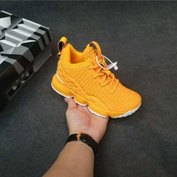 Kids Nike LeBron XV Sneaker Shoes - Orange