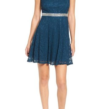 Speechless Embellished Lace Skater Dress | Nordstrom