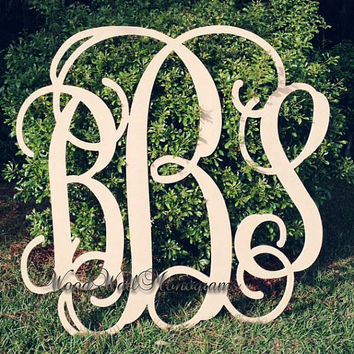 "36"" EXTRA Large Wooden Wall Monograms, Graduation Gift, Wedding Guestbook, Nursery Decor, Children, Wall Monogram"