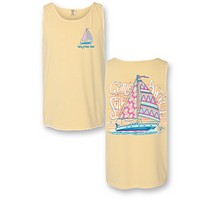 Sassy Frass Come Sail Away Boat Comfort Colors Bright T Shirt Tank Top