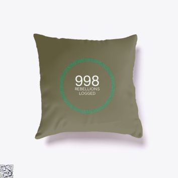 998 Rebellions Logged, Black Mirror Throw Pillow Cover