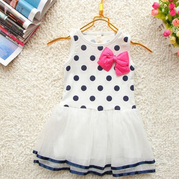Baby Girls Toddler Kids Party One-piece Short Dress Tulle Skirt Clothes Age 0-4T = 1958340740