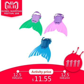 Cute Kid Swimming Fin Children Monofin Mermaid Flippers Diving Scuba Swim Fin Foot Flippers Monofin Water Sports Training Shoes