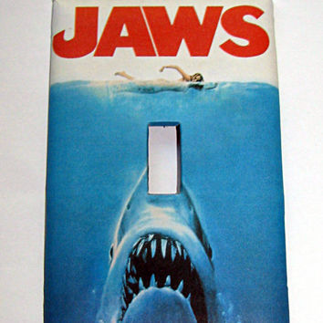 Light Switch Cover - Light Switch Plate JAWS Vintage Movie Poster