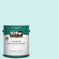BEHR Premium Plus 1-gal. #490A-1 Teal Ice Zero VOC Semi-Gloss Enamel Interior Paint-305001 at The Home Depot