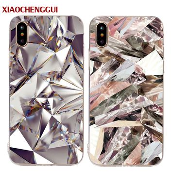 XIAOCHENGGUI Marble Soft silicone Decal Shell For iPhone 5S SE 5 6 6S 7 8 Plus X Stylish Cute Unique Stone Phone Cases Cover