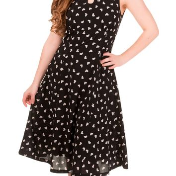 Hearts Songbird Dress in Black | Blame Betty
