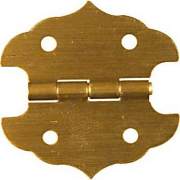 """National Hardware® N211-813 Decorative Hinges, 1-1/8"""" x 1-1/8"""", Brass, 2-Pack"""