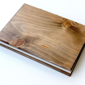 Wooden sketchbook