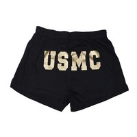 USMC Glitter Women's Shorts | Sgt Grit - Marine Corps Store