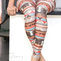 Ancient Love leggings, brown | Klassy Kassy