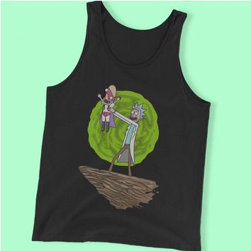 Noob Noob King Rick And Morty Lion King Parody Men'S Tank Top